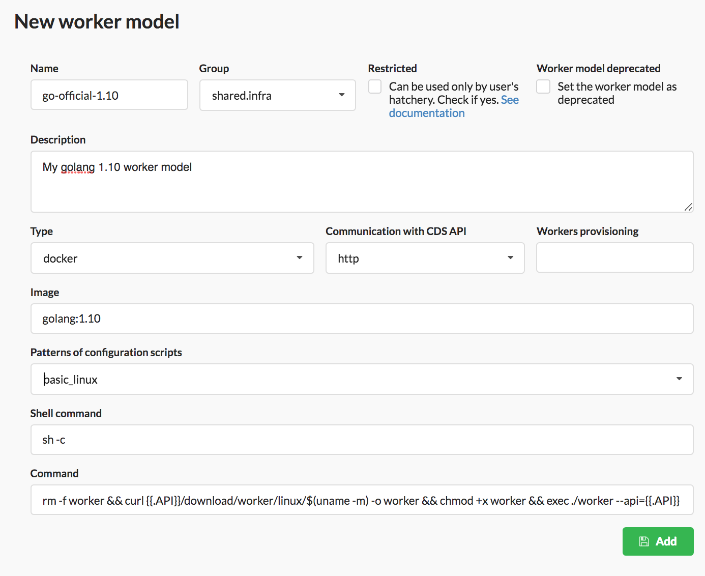Add worker model